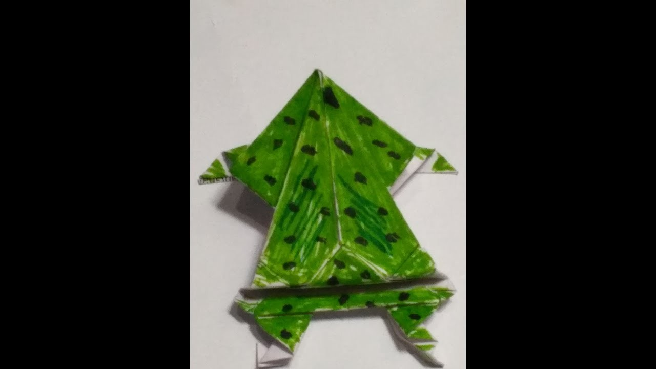 Origami Jumping Frog Instructions Video