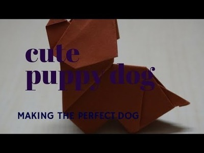Cute puppy origami paper dog for kids | How to make puppy dog
