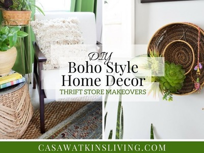 DIY Boho Style Home Decor | Thrift Store Makeovers