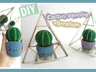 DIY Cactus Squishy With Terrarium ⎜MiSweetWorld