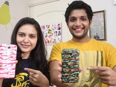 DIY CAMOUFLAGE phone case ft. Deepika Bakes