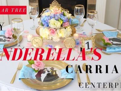 DIY CINDERELLA'S CARRIAGE CENTERPIECE   DIY DISNEY PRINCESS CENTERPIECE