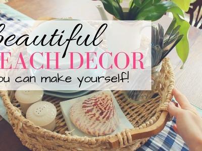DIY COASTAL HOME DECOR. BEACH THEME DECOR IDEAS
