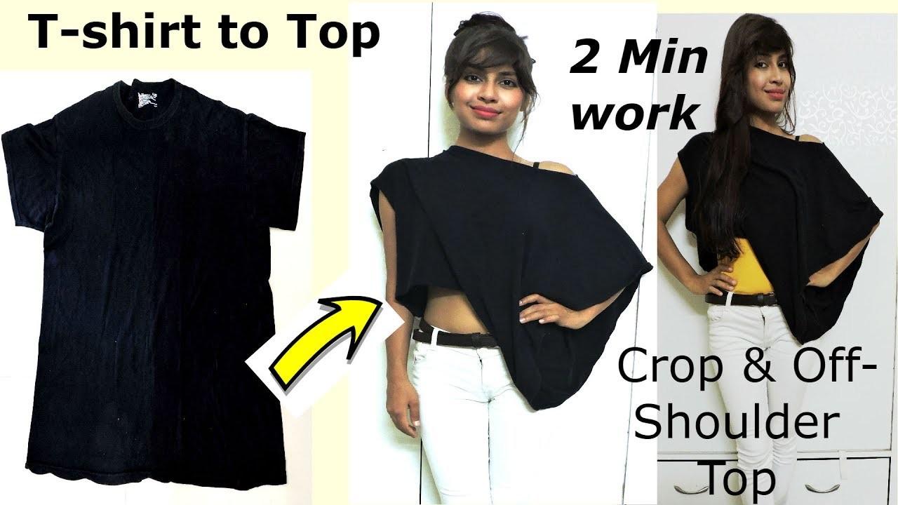 d8fbf762890 How To Cut A Tshirt Into Off The Shoulder Shirt