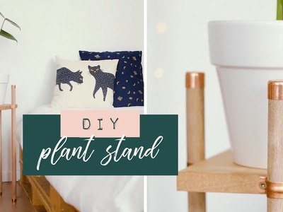 DIY Copper and Wood Plant Stand | South African Youtuber #ad