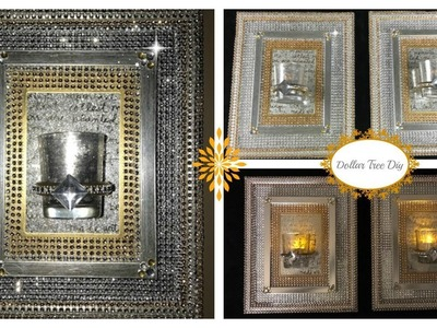 DIY - DOLLAR TREE BLING WALL SCONCE (BLING QUEEN EDITION) BUDGET FRIENDLY