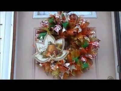 DIY Dollar Tree Fall Wreath