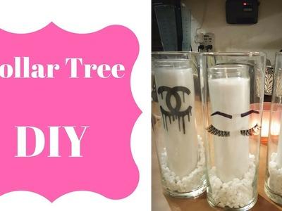 DIY Dollar Tree Logo Candle Holders Decor