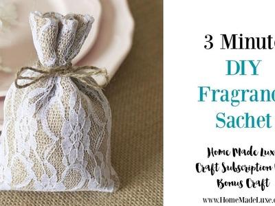 DIY Fragrance Sachet for Home and Car!