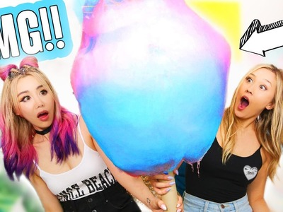 DIY GIANT COTTON CANDY w. WENGIE!