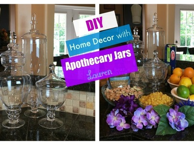 DIY Home Decor with Apothecary Jars | The2Orchids