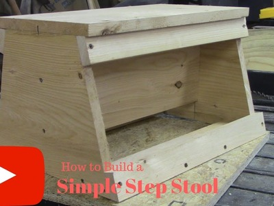 DIY How To Build A Simple Step Stool!!