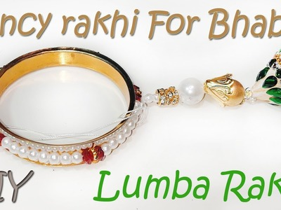 DIY : How to make rakhi for bhabhi at home | lumba rakhi |Chuda Rakhi | Art With Creation