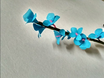 DIY how to make  very easy and decorative paper flower