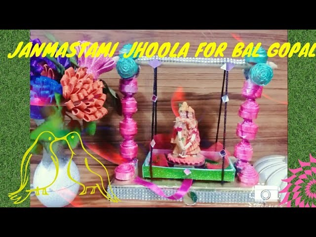 Diy krishna janmastami jhula my crafts and diy projects for How to make jhula at home