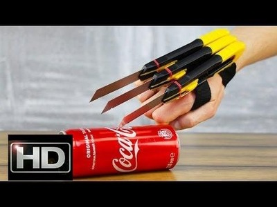 DIY Logan X-Men Wolverine Automatic Claws with Real Blades v2.0@