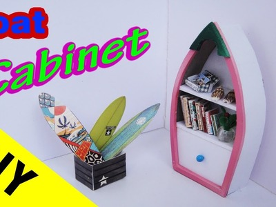 DIY  Miniature Boat Cabinets - Dollhouse