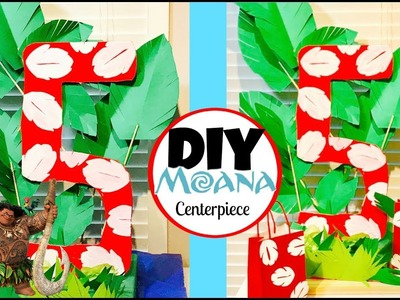 Diy Moana Centerpiece   DIY Lilo & Stitch Centerpiece Number- Moana party decorations