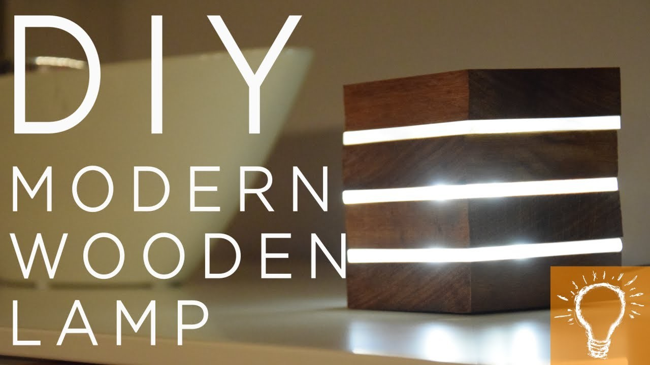 Diy Modern Wooden Led Lamp My Crafts And Diy Projects