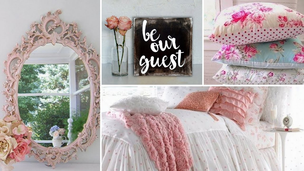 Diy shabby chic guest bedroom decor ideas 2017 home Shabby chic bedroom accessories