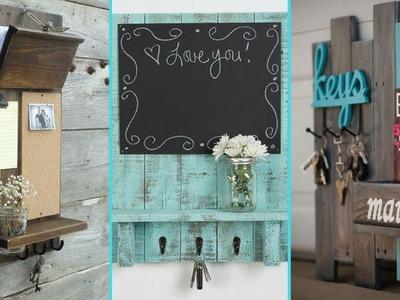 ❤ DIY Shabby Chic Style Entryway Mail & Key Organizer Ideas ❤ | Home decor Ideas | Flamingo Mango