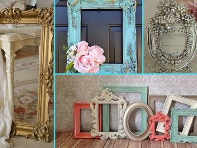 ❤ DIY Shabby Chic Style Photo Frame decor Ideas ❤   Home decor & Interior design  Flamingo Mango