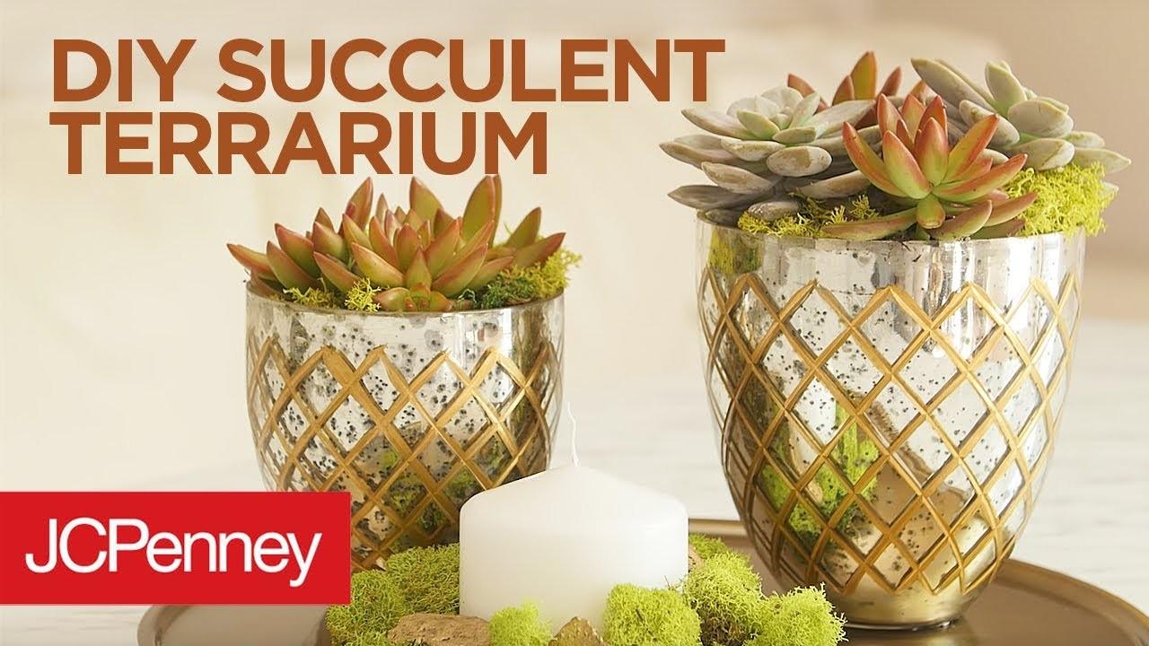 DIY Succulent Terrarium: Succulent Plant Centerpiece | JCPenney + awestruck