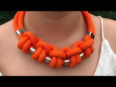 DIY SUMMER BRAIDED-KNOTTED NECKLACE