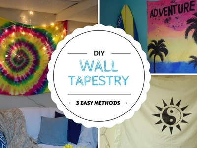 DIY wall tapestry - 3 easy ways!