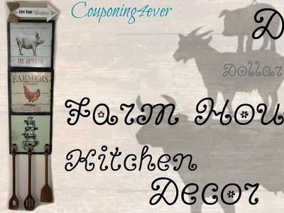 DOLLAR TREE DIY   FARM HOUSE KITCHEN DECOR