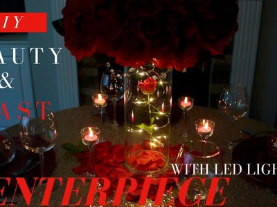 DOLLAR TREE LIGHTING for BEAUTY AND THE BEAST CENTERPIECE | DIY WEDDING DECORATIONS