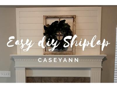 Easy DIY Shiplap Install For Farmhouse Decor - Timelapse