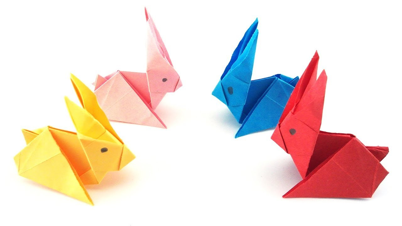 easy origami paper rabbit 90 seconds of origami my