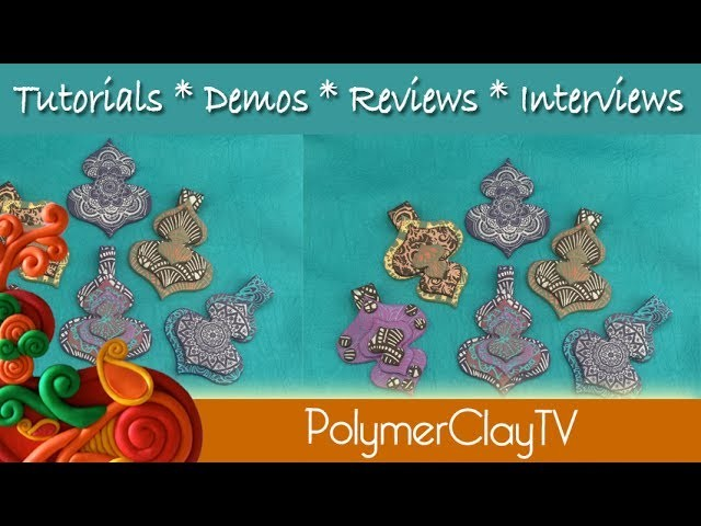 Easy to Make Fun and Funky Polymer Clay Mod Lantern Pendants