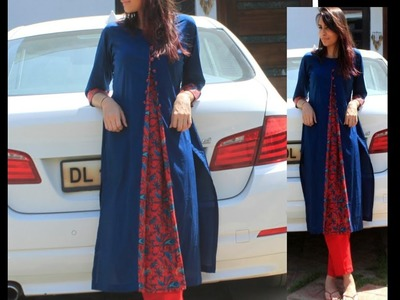 Front Slit Pleated Kurta Drafting, Cutting and Making | DIY