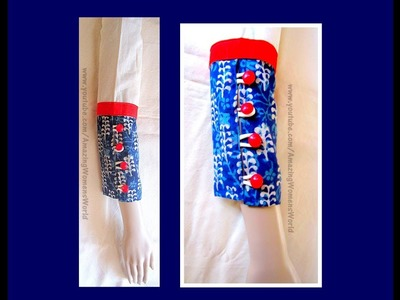 Full Length Button and Loops Sleeves (  BAJU ) Cutting and Stitching   DIY