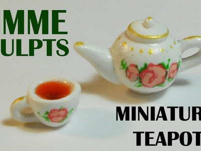 Gimme Sculpts:  Miniature polymer clay Teapot and cup
