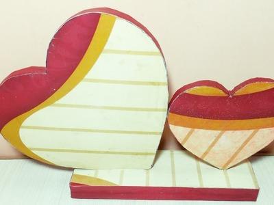Heart showpiece DIY   Best out of waste