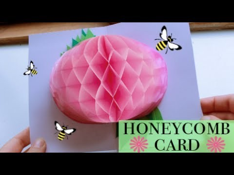 how to make honeycomb paper flower