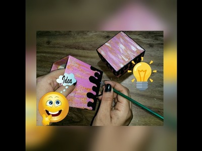 How to decorate box   DIY gift  box   Best out of waste material