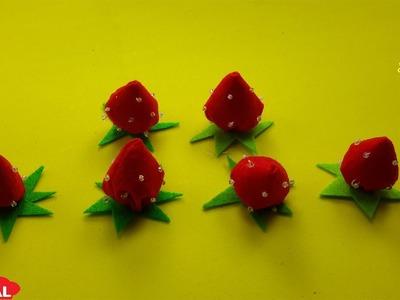 How to DIY Miniature Strawberry|Cách Làm quả dâu tây đơn giản