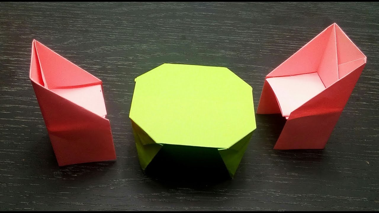 how to make a paper tableorigami things my crafts and