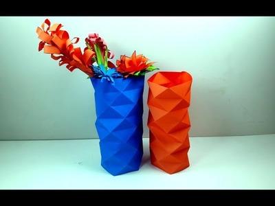 How to make a paper vase sleeve | Tutorial of making newspaper flower vase | DIY crafts