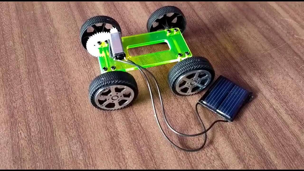How to make a Solar power car DIY
