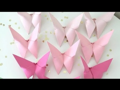 How to make an Origami paper batterfly-fast way