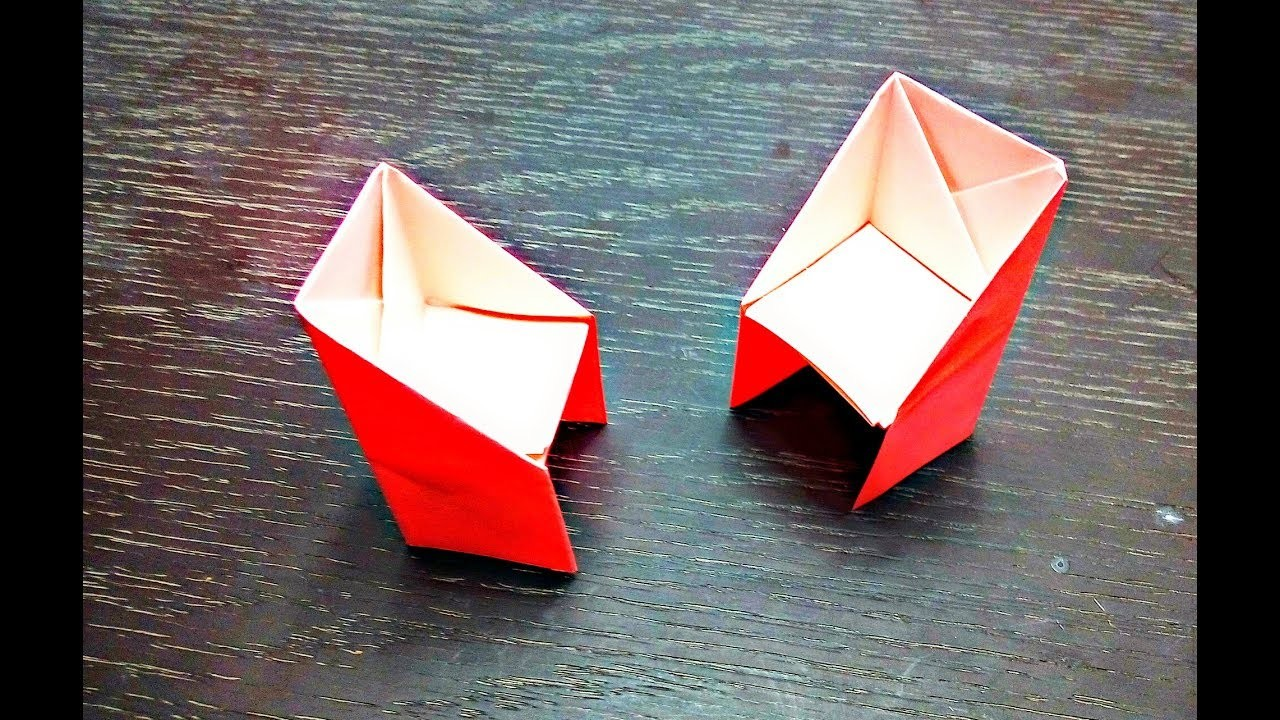 how to make an paper origami chaireasy origami things
