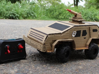How to Make Army Powered Truck from Cardboard - Powered Truck DIY