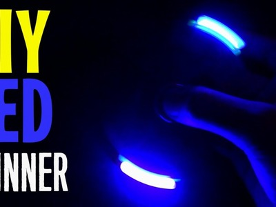 How to make DIY LED Hand Fidget Spinner with Bank card