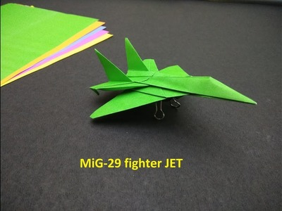 How to make MiG-29 FIGHTER JET using paper