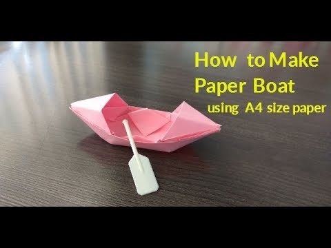 HOW TO MAKE PAPER BOAT USING - A4 SIZE PAPER